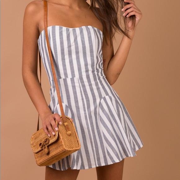 42566a1591 Princess Polly Strapless Striped Dress